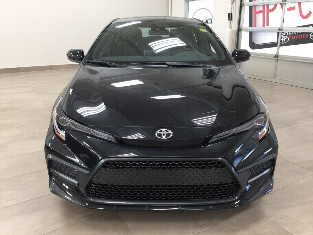 Black[Black Sand Pearl] 2021 Toyota Corolla SE Front Vehicle Photo in Sherwood Park AB