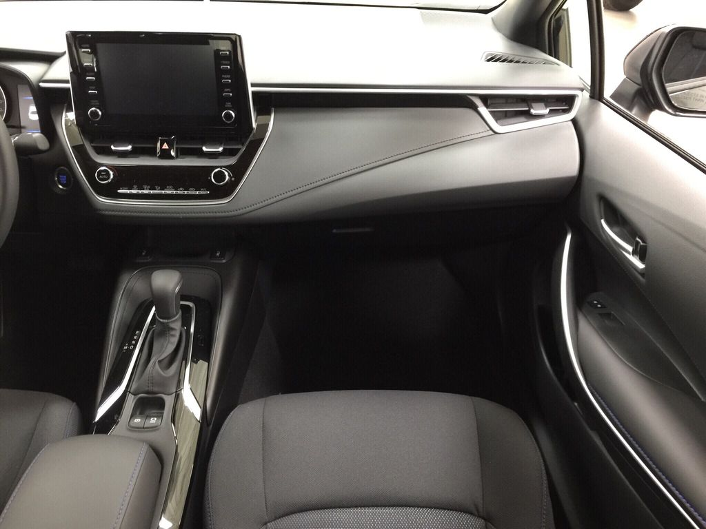 Black[Black Sand Pearl] 2021 Toyota Corolla SE Right Front Seat Photo in Sherwood Park AB