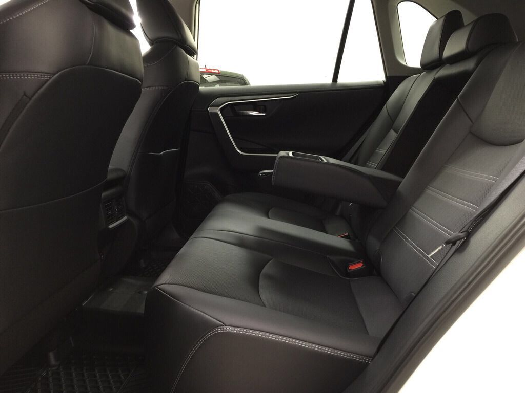 White[Blizzard Pearl] 2021 Toyota RAV4 Limited Rear Seat Photo in Sherwood Park AB