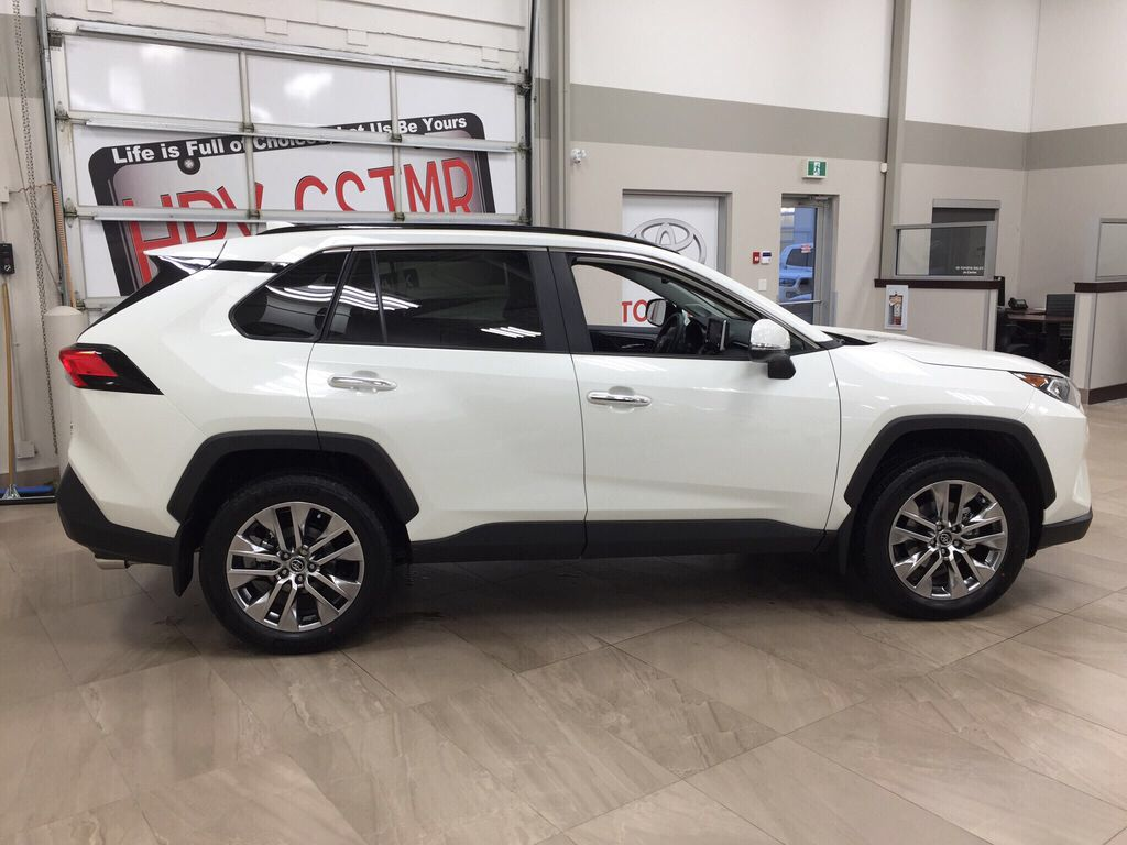 White[Blizzard Pearl] 2021 Toyota RAV4 Limited Right Side Photo in Sherwood Park AB