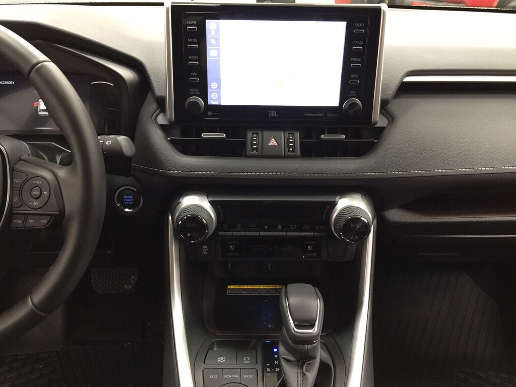 White[Blizzard Pearl] 2021 Toyota RAV4 Limited Central Dash Options Photo in Sherwood Park AB