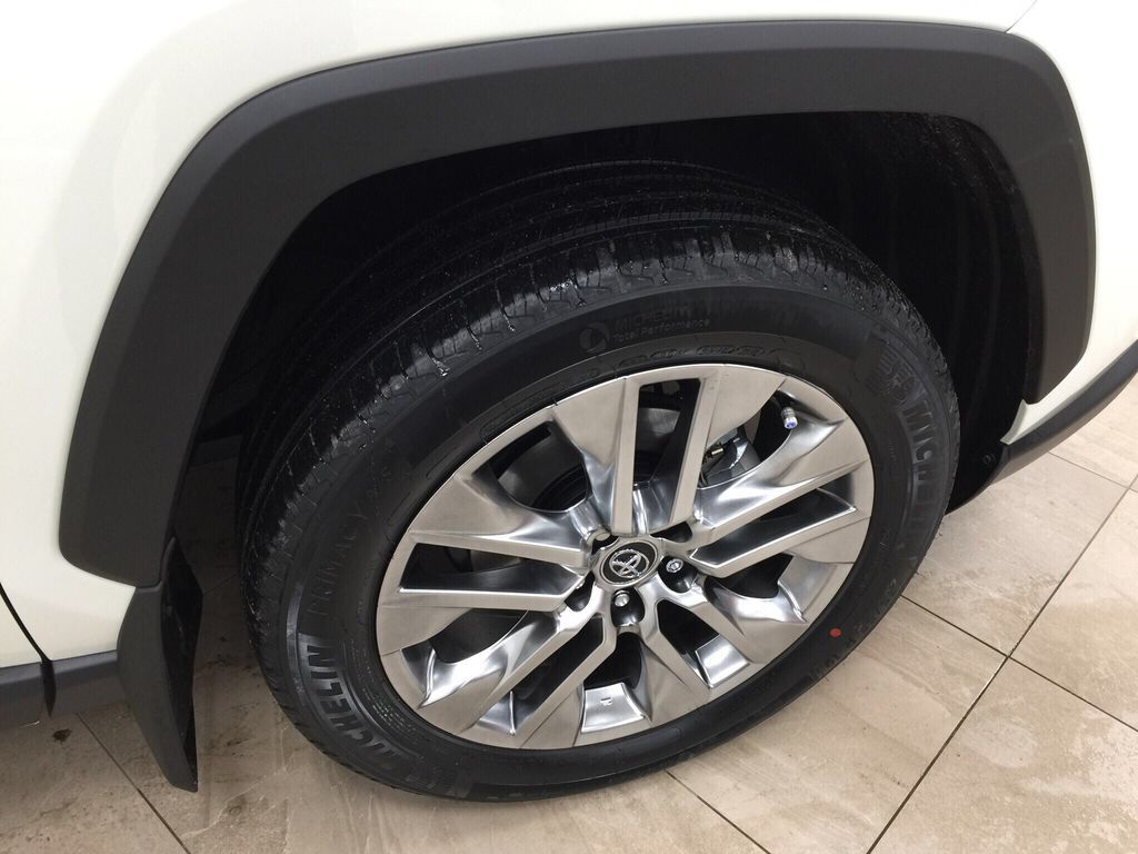 White[Blizzard Pearl] 2021 Toyota RAV4 Limited Right Front Rim and Tire Photo in Sherwood Park AB