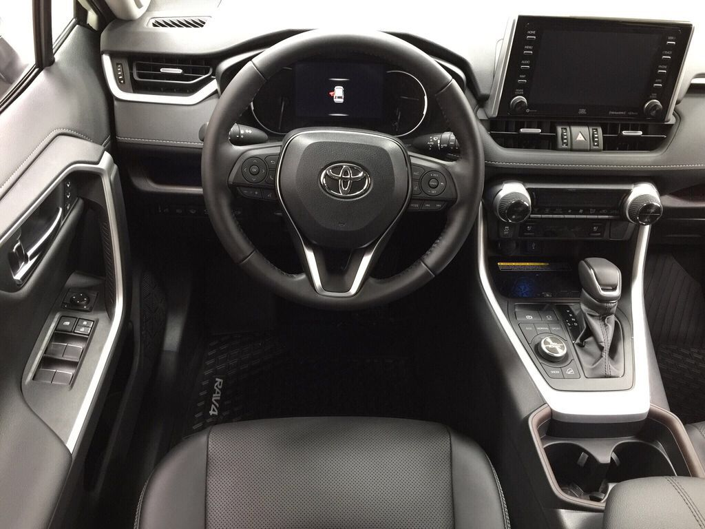 White[Blizzard Pearl] 2021 Toyota RAV4 Limited Left Front Seat Photo in Sherwood Park AB