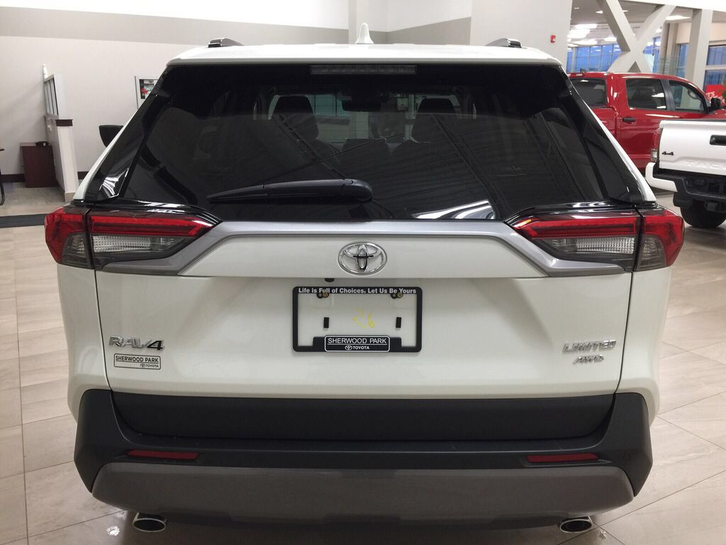 White[Blizzard Pearl] 2021 Toyota RAV4 Limited Rear of Vehicle Photo in Sherwood Park AB