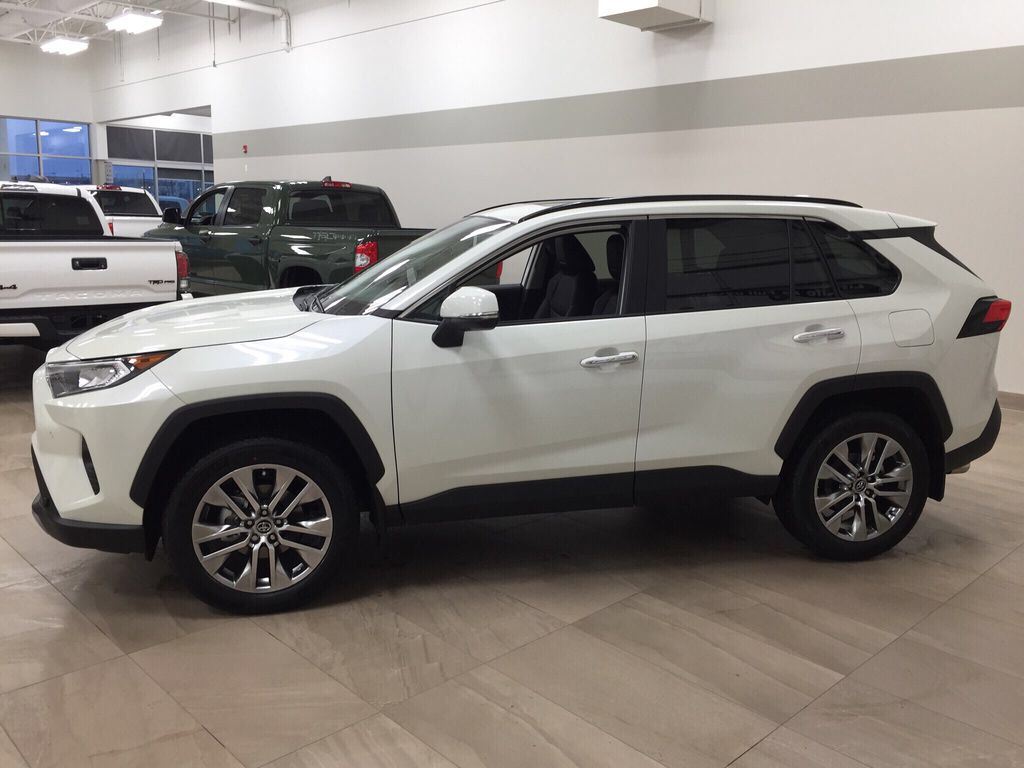 White[Blizzard Pearl] 2021 Toyota RAV4 Limited Left Side Photo in Sherwood Park AB