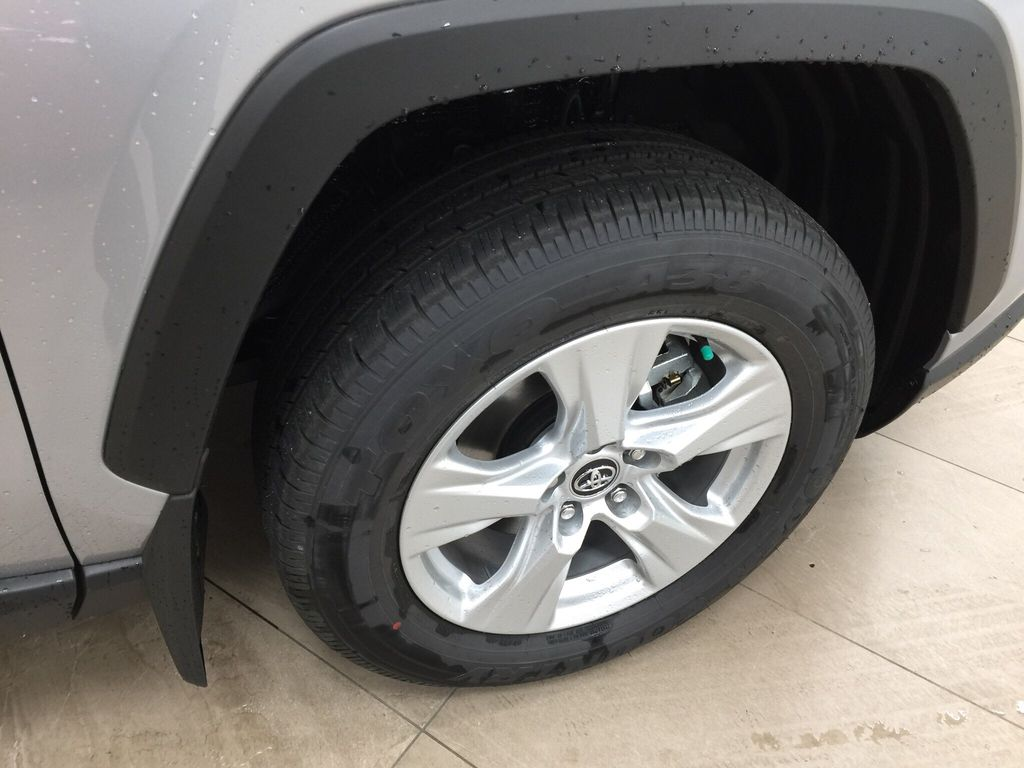 Silver[Silver Sky Metallic] 2021 Toyota RAV4 LE Hybrid Right Front Rim and Tire Photo in Sherwood Park AB