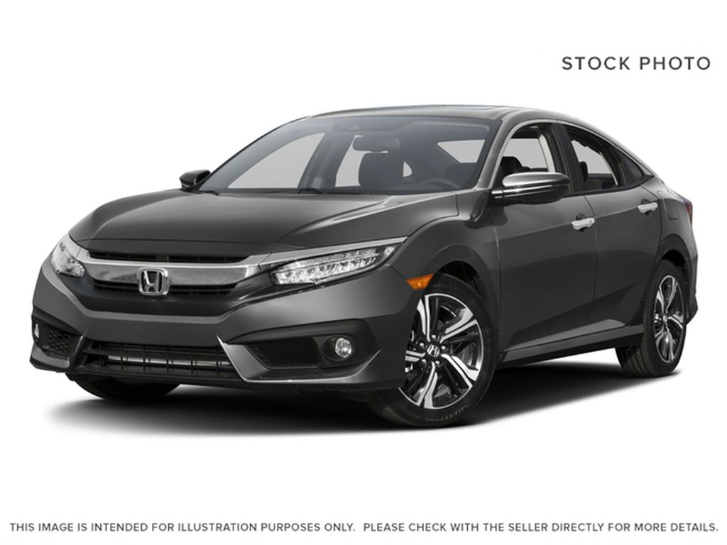 Black[Crystal Black Pearl] 2016 Honda Civic Sedan Touring