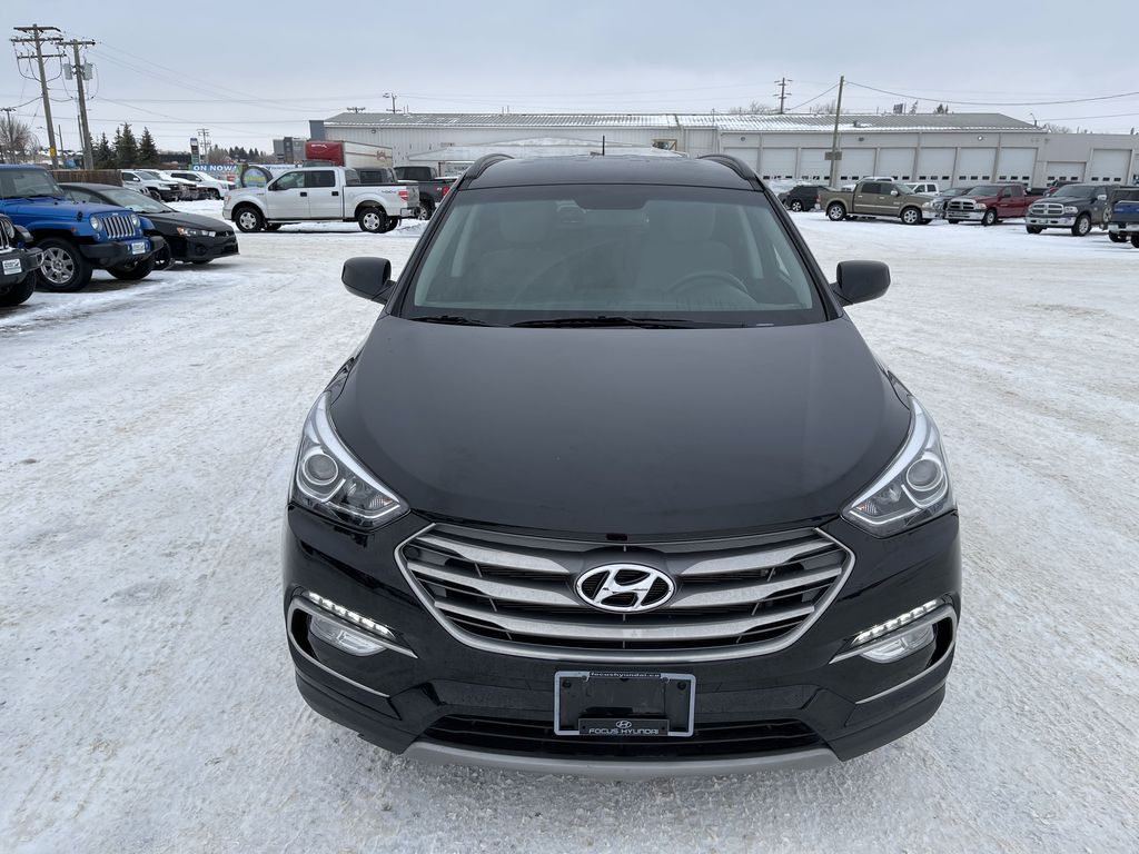 Black 2018 Hyundai Santa Fe Sport 2.4L AWD SPORT *Heated Seats*Backup Cam*Bluetooth* Front Vehicle Photo in Brandon MB