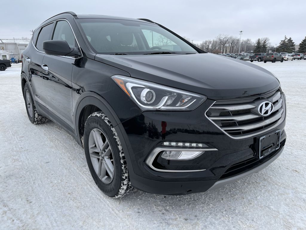 Black 2018 Hyundai Santa Fe Sport 2.4L AWD SPORT *Heated Seats*Backup Cam*Bluetooth* Right Front Corner Photo in Brandon MB