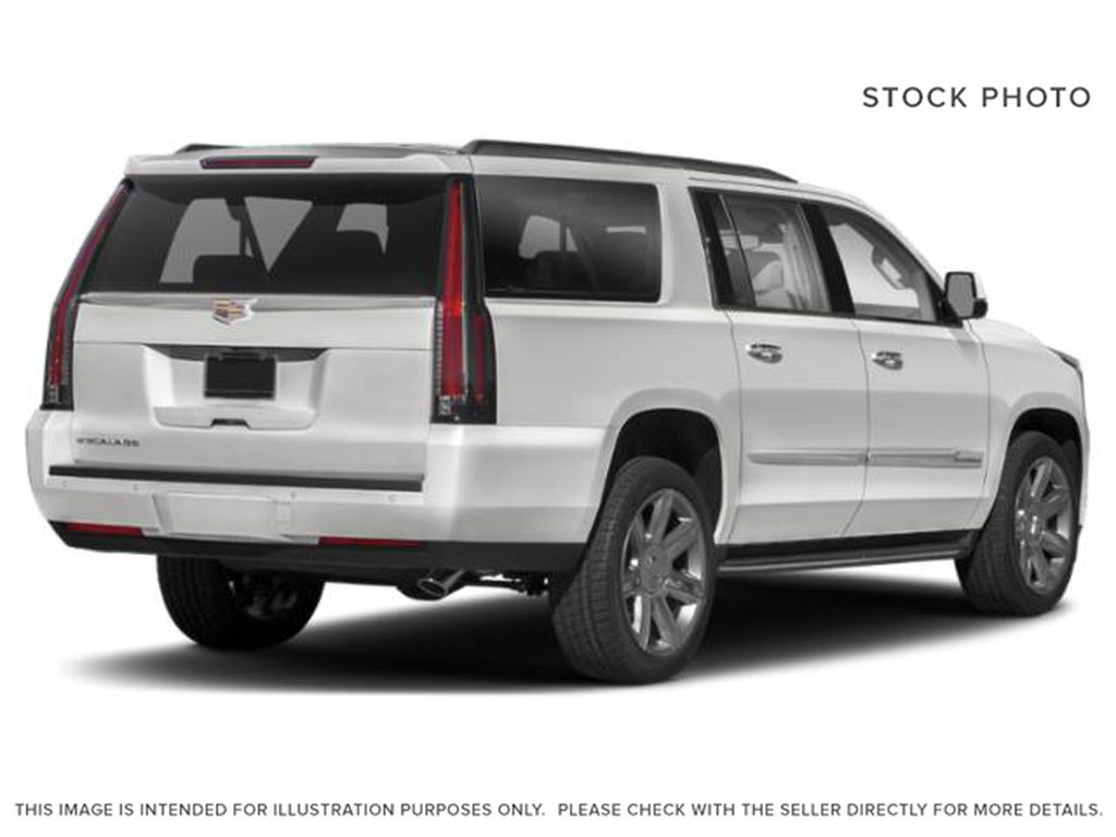 White[Crystal White Tricoat] 2020 Cadillac Escalade ESV Right Rear Corner Photo in Edmonton AB