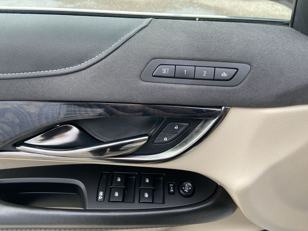 White[Crystal White Tricoat] 2018 Cadillac ATS Sedan Luxury AWD  Driver's Side Door Controls Photo in Calgary AB