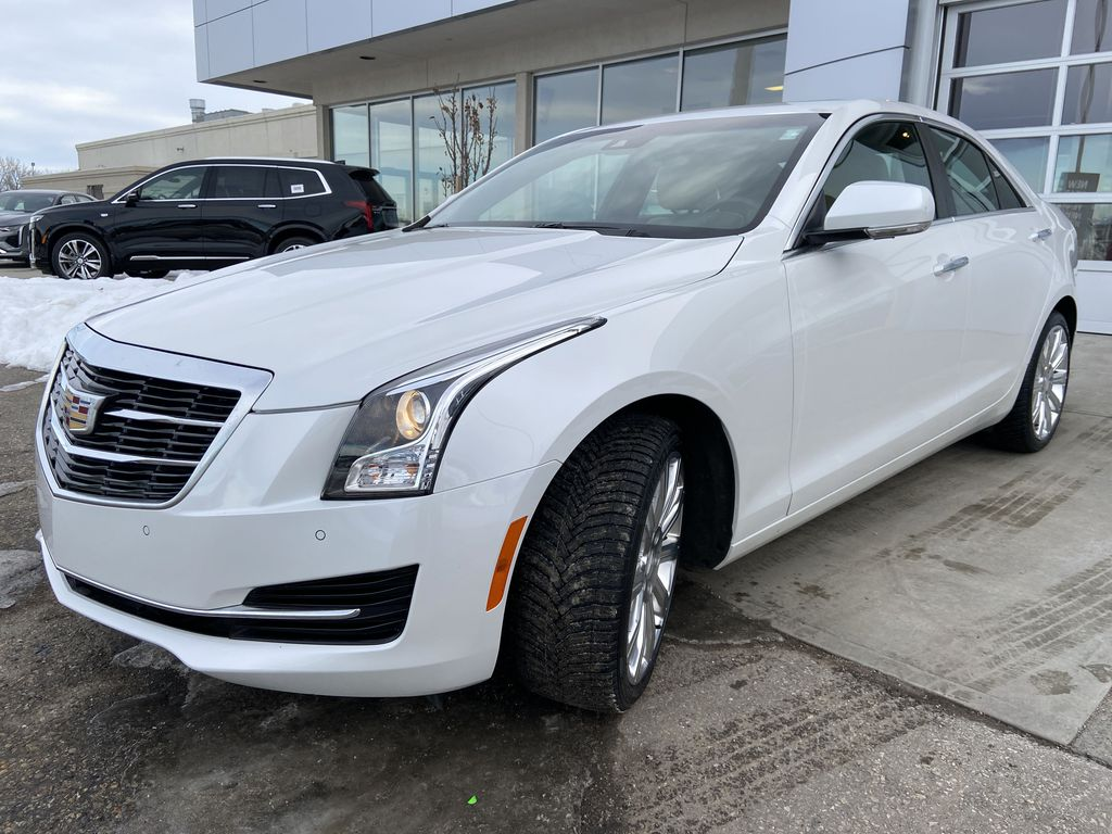 White[Crystal White Tricoat] 2018 Cadillac ATS Sedan Luxury AWD Left Front Head Light / Bumper and Grill in Calgary AB