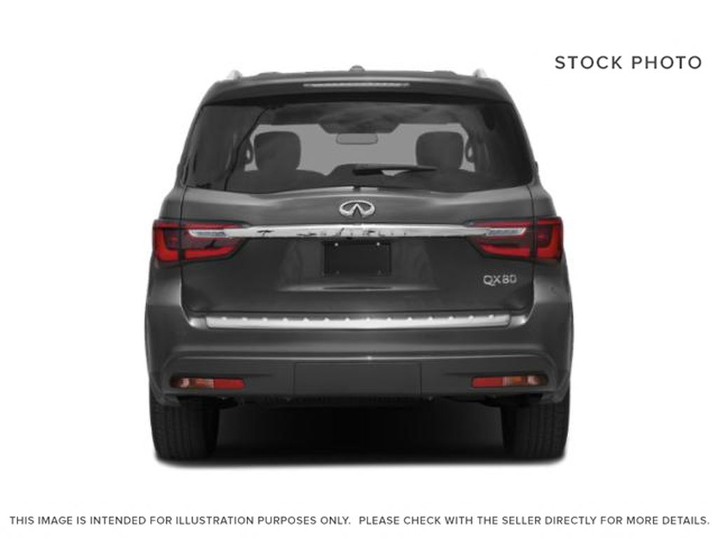 Red[Coulis Red Pearl] 2020 INFINITI QX80 Rear of Vehicle Photo in Edmonton AB