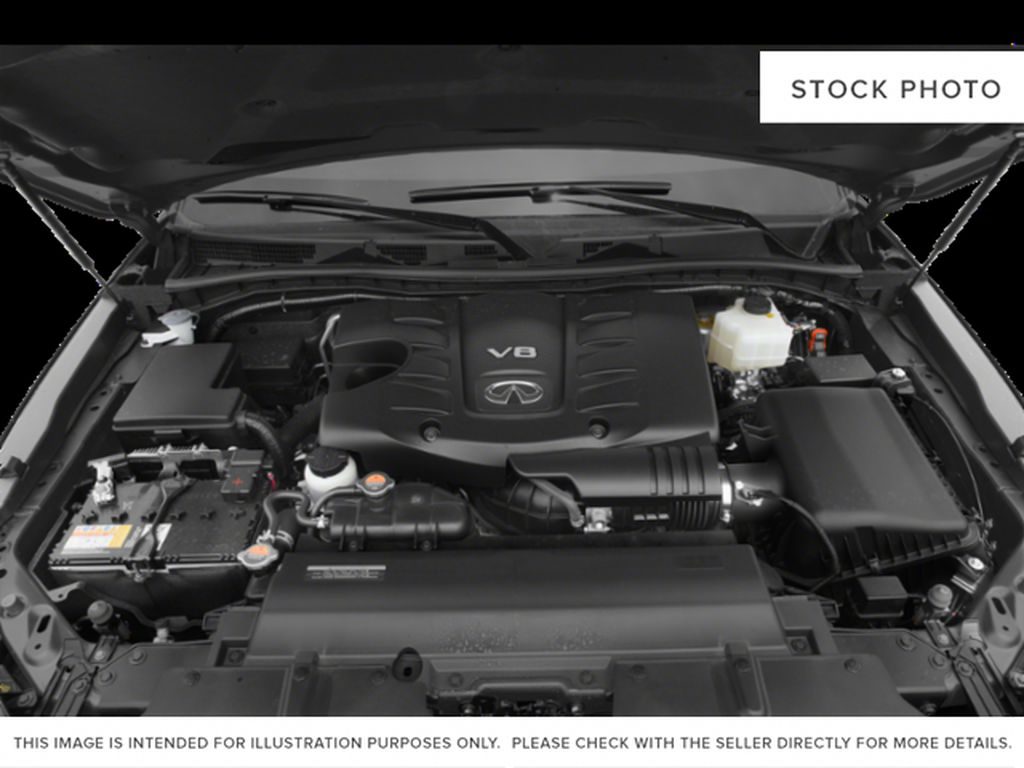 Red[Coulis Red Pearl] 2020 INFINITI QX80 Engine Compartment Photo in Edmonton AB