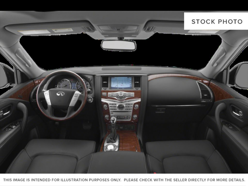 Red[Coulis Red Pearl] 2020 INFINITI QX80 Central Dash Options Photo in Edmonton AB