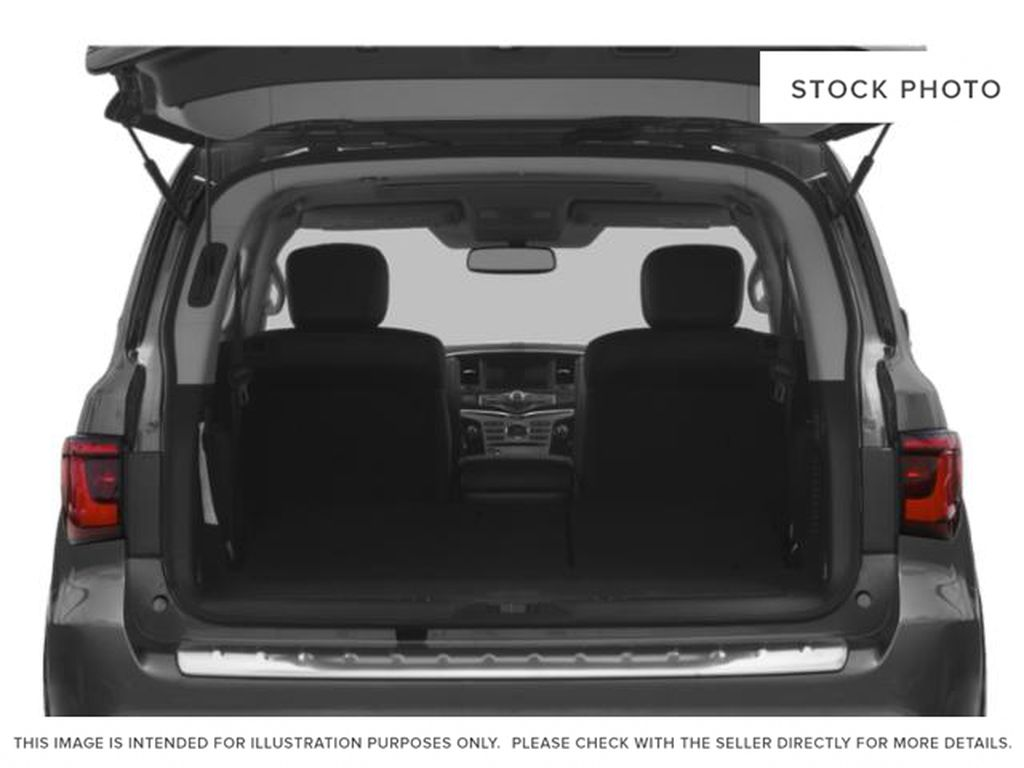 Red[Coulis Red Pearl] 2020 INFINITI QX80 Trunk / Cargo Area Photo in Edmonton AB