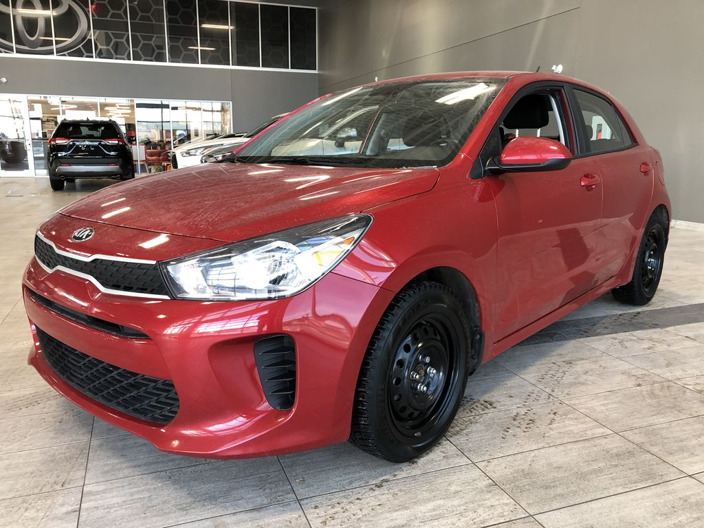 Red 2018 Kia Rio 5-door LX Left Side Rear Seat  Photo in Edmonton AB