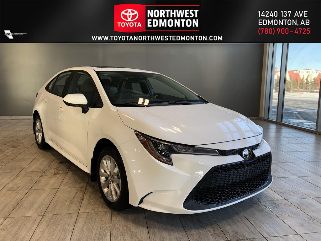 Super White 2021 Toyota Corolla LE Upgrade CVT