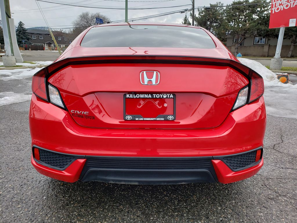 Red[Rallye Red] 2017 Honda Civic Coupe Rear of Vehicle Photo in Kelowna BC