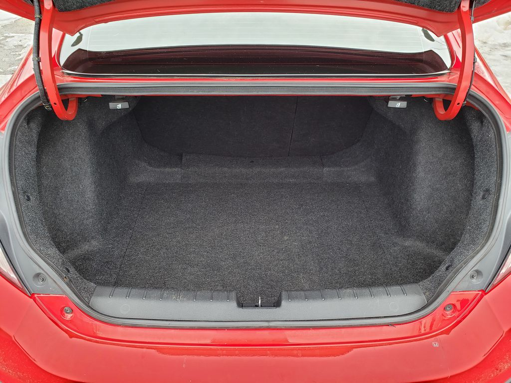 Red[Rallye Red] 2017 Honda Civic Coupe Trunk / Cargo Area Photo in Kelowna BC
