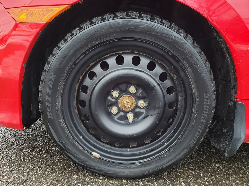 Red[Rallye Red] 2017 Honda Civic Coupe Left Front Rim and Tire Photo in Kelowna BC