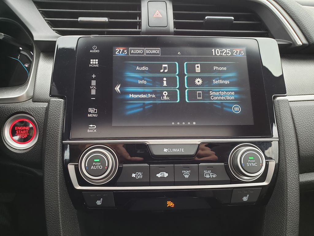 Red[Rallye Red] 2017 Honda Civic Coupe Central Dash Options Photo in Kelowna BC