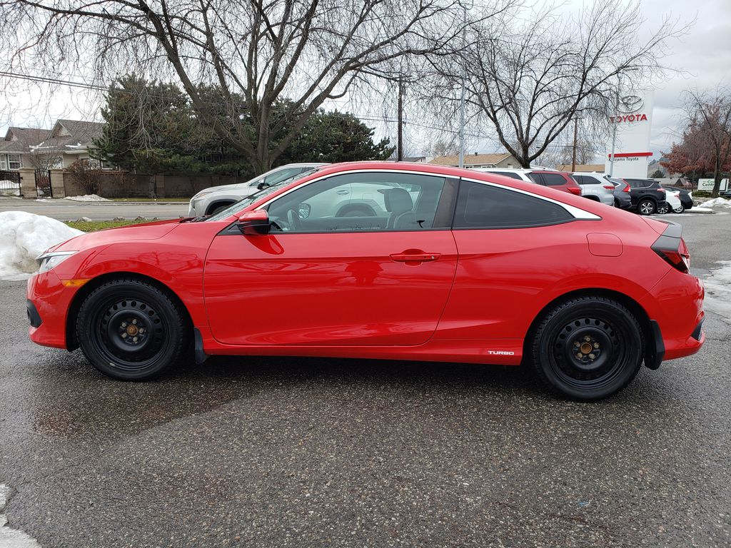 Red[Rallye Red] 2017 Honda Civic Coupe Left Side Photo in Kelowna BC