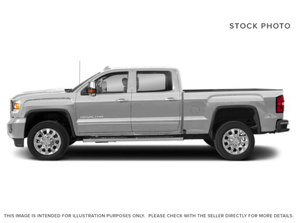 Silver[Quicksilver Metallic] 2019 GMC Sierra 2500HD Left Side Photo in Fort Macleod AB