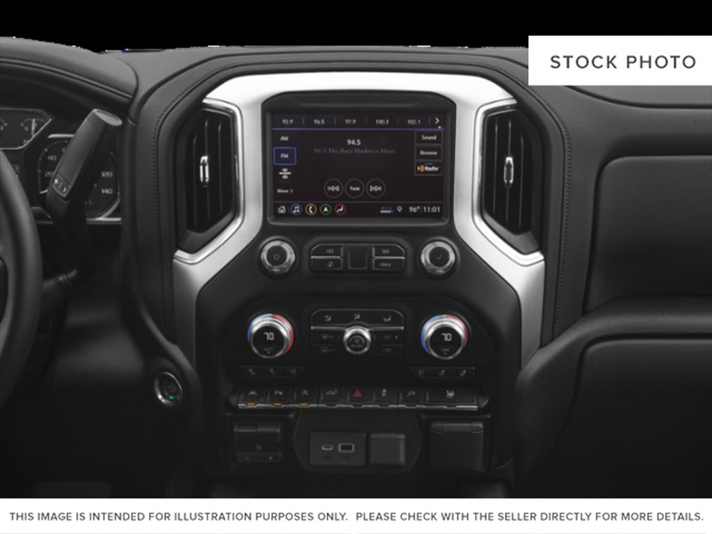 White[Summit White] 2020 GMC Sierra 1500 Radio Controls Closeup Photo in Fort Macleod AB