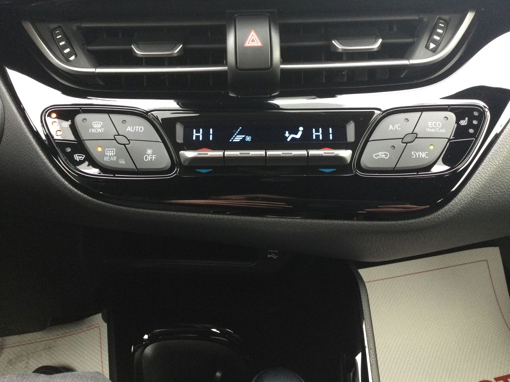 Black[Black Sand Pearl] 2021 Toyota C-HR Central Dash Options Photo in Brockville ON