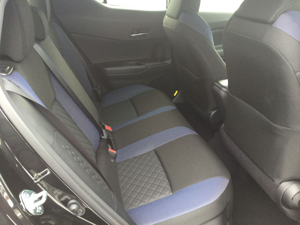 Black[Black Sand Pearl] 2021 Toyota C-HR Right Side Rear Seat  Photo in Brockville ON
