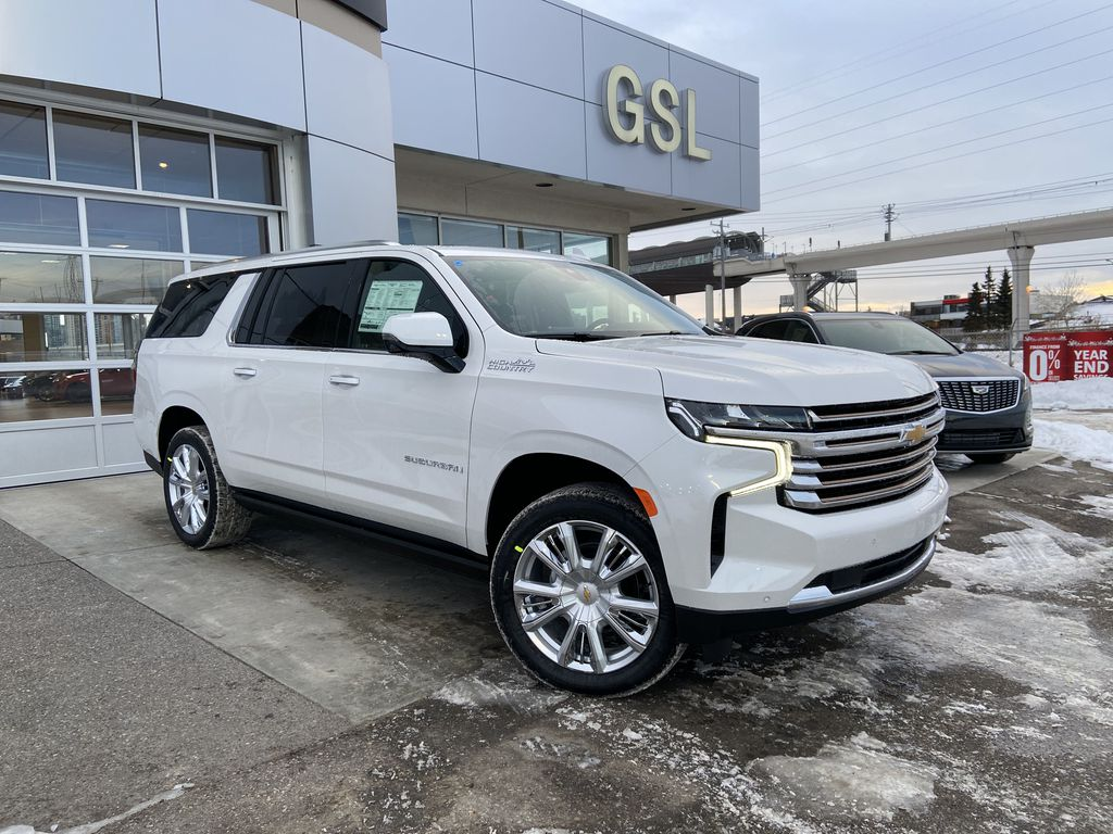 White[Iridescent Pearl Tricoat] 2021 Chevrolet Suburban High Country