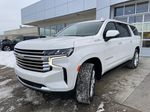 White[Iridescent Pearl Tricoat] 2021 Chevrolet Suburban High Country Left Front Head Light / Bumper and Grill in Calgary AB