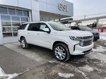 White[Iridescent Pearl Tricoat] 2021 Chevrolet Suburban High Country Right Front Corner Photo in Calgary AB