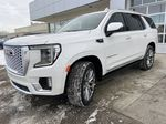 White[White Frost Tricoat] 2021 GMC Yukon Denali Left Front Head Light / Bumper and Grill in Calgary AB