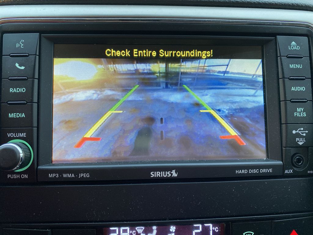 Red[Inferno Red Crystal Pearl] 2011 Jeep Grand Cherokee Backup Camera Closeup Photo in Edmonton AB
