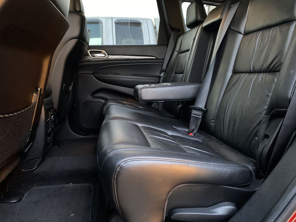 Red[Inferno Red Crystal Pearl] 2011 Jeep Grand Cherokee Left Side Rear Seat  Photo in Edmonton AB