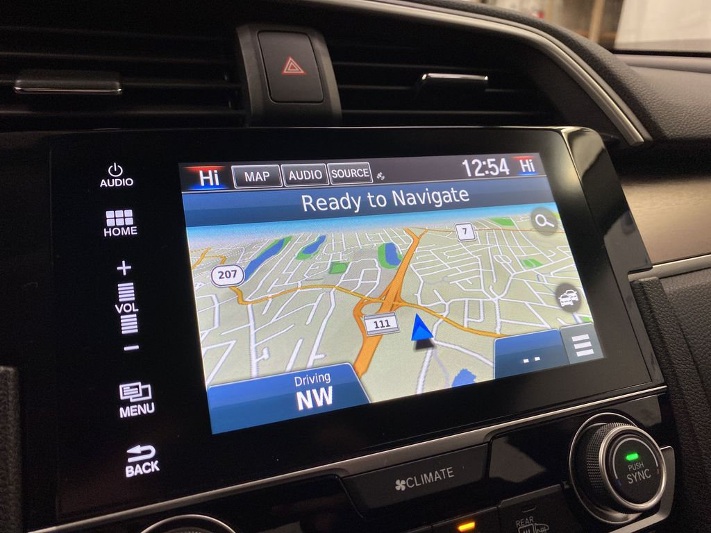Gray[Modern Steel Metallic] 2016 Honda Civic Sedan Navigation Screen Closeup Photo in Dartmouth NS