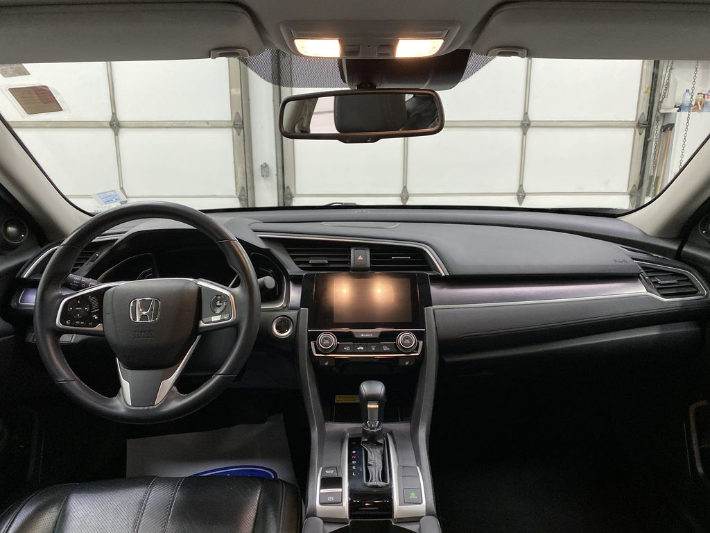 Gray[Modern Steel Metallic] 2016 Honda Civic Sedan Strng Wheel/Dash Photo: Frm Rear in Dartmouth NS