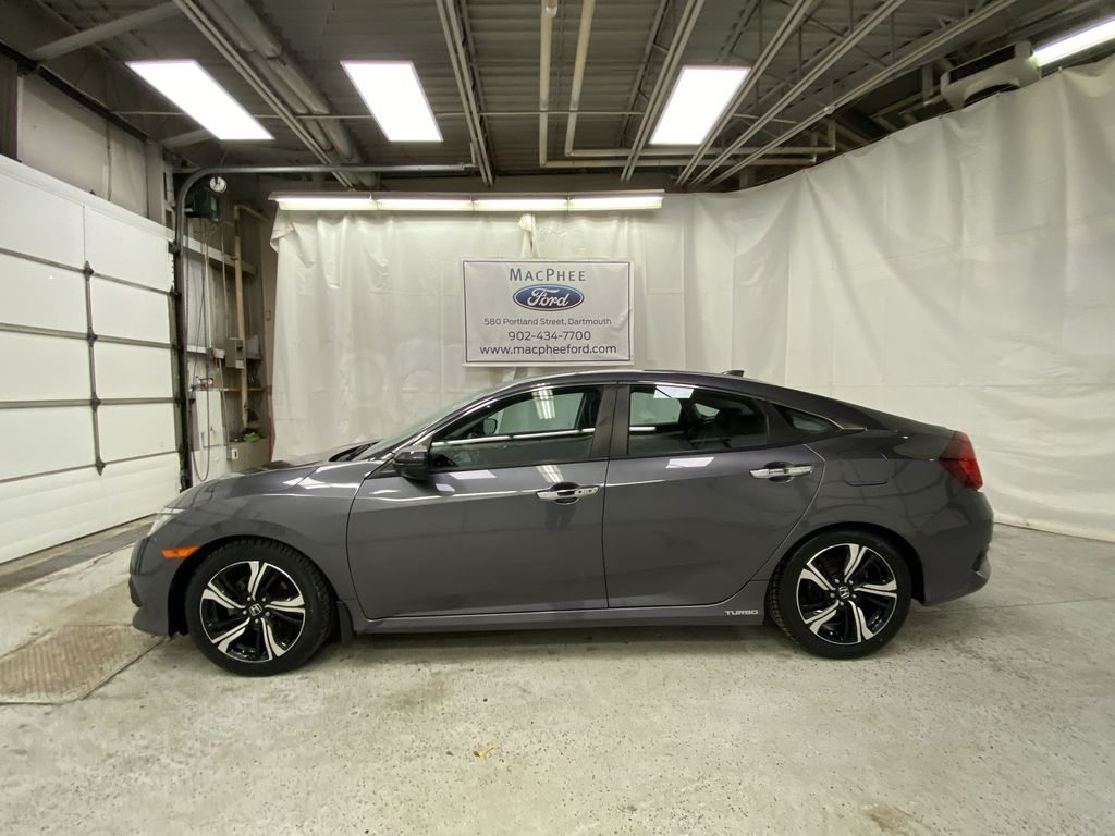 Gray[Modern Steel Metallic] 2016 Honda Civic Sedan Left Side Photo in Dartmouth NS