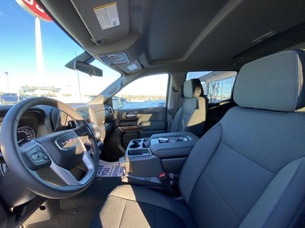 Black[Onyx Black] 2021 GMC Sierra 1500 Elevation Left Front Interior Photo in Calgary AB