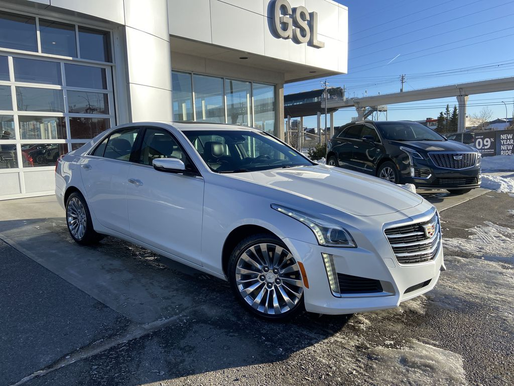 White[Crystal White Tricoat] 2016 Cadillac CTS Sedan Luxury AWD
