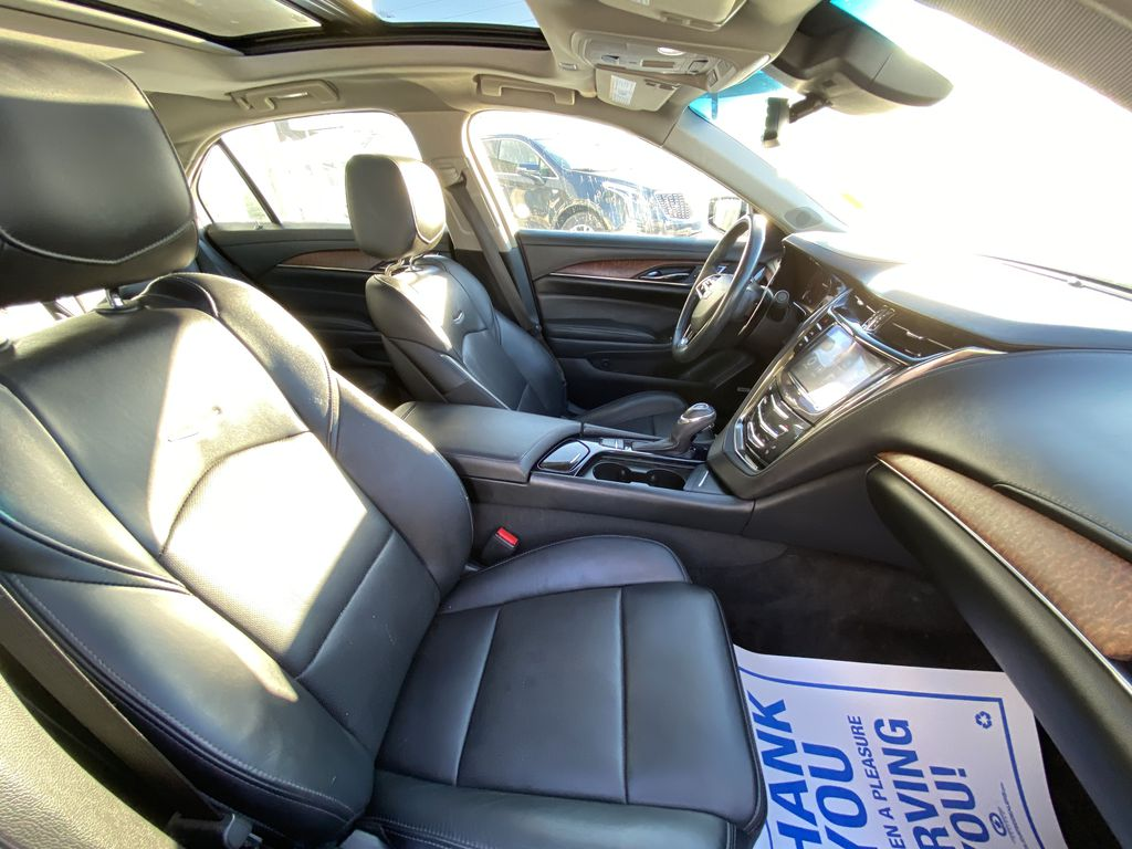White[Crystal White Tricoat] 2016 Cadillac CTS Sedan Luxury AWD Right Side Front Seat  Photo in Calgary AB