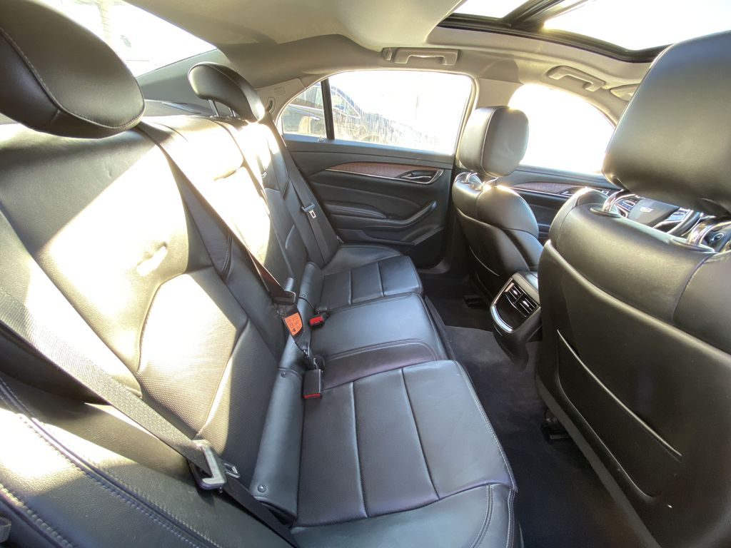 White[Crystal White Tricoat] 2016 Cadillac CTS Sedan Luxury AWD Right Side Rear Seat  Photo in Calgary AB