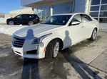 White[Crystal White Tricoat] 2016 Cadillac CTS Sedan Luxury AWD Left Front Head Light / Bumper and Grill in Calgary AB