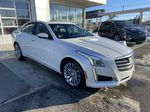 White[Crystal White Tricoat] 2016 Cadillac CTS Sedan Luxury AWD Right Front Corner Photo in Calgary AB
