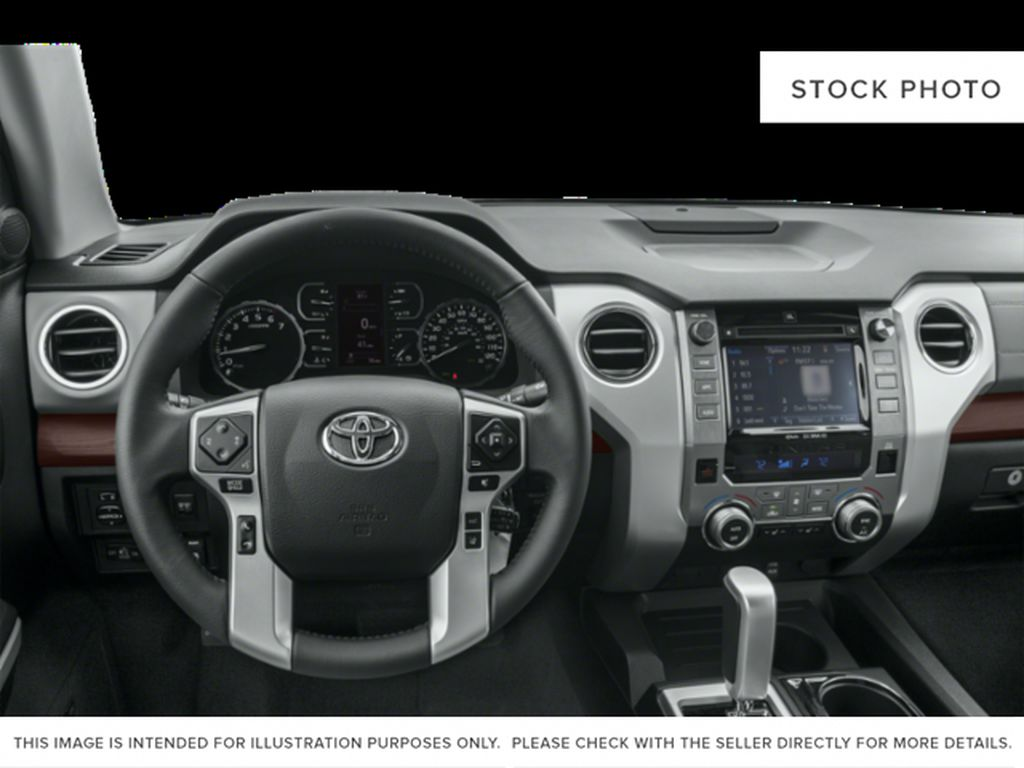 White[Alpine White] 2018 Toyota Tundra Steering Wheel and Dash Photo in Fort Macleod AB
