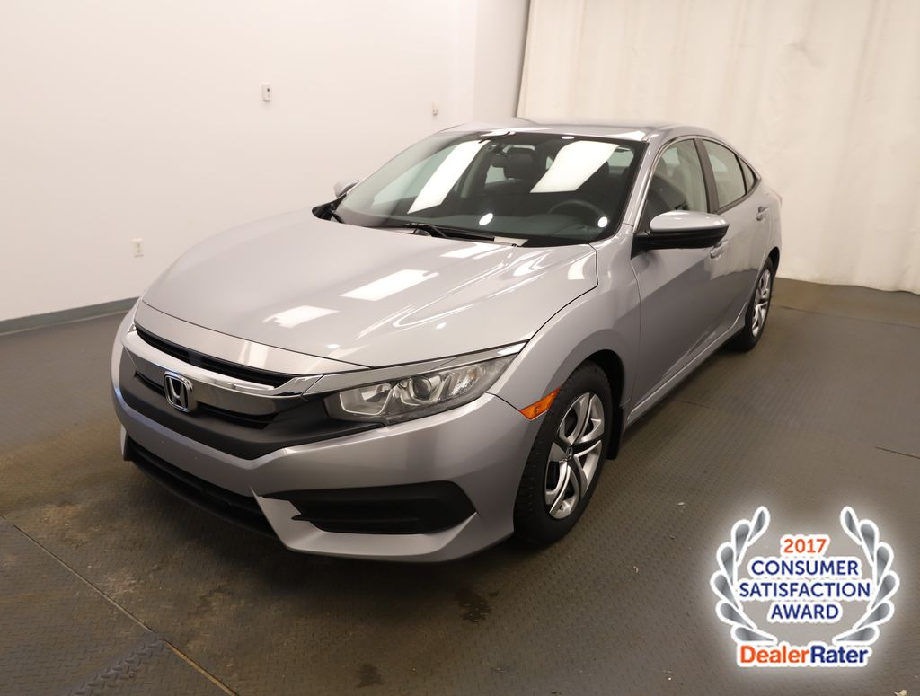 Silver 2016 Honda Civic Sedan