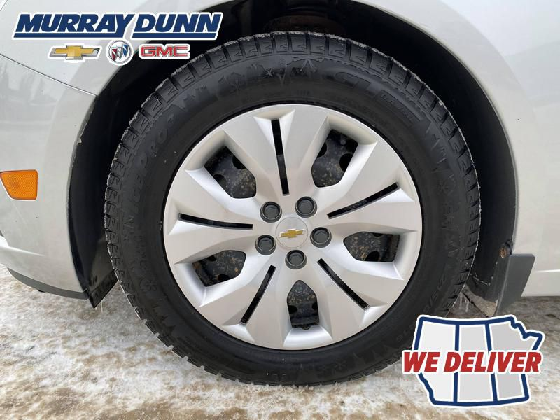 Silver 2014 Chevrolet Cruze Left Front Rim and Tire Photo in Nipawin SK
