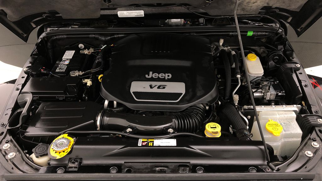 Black[Black] 2016 Jeep Wrangler Unlimited Back Country - Manual, Leather, NAV Engine Compartment Photo in Winnipeg MB